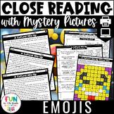 Emoji Themed Close Reading Comprehension Passages   ELA Te