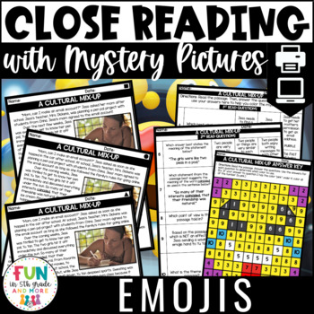 Close Reading Comprehension Passages: Emoji | ELA Test Prep | Distance Learning