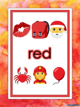 Emoji Themed Colors Posters