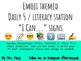 Emoji Themed Daily 5/Literacy Station poster set