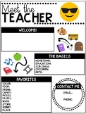 Emoji-Themed EDITABLE Meet the Teacher Template