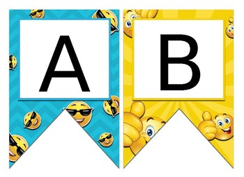 Emoji Themed Editable Bulletin Board Banner