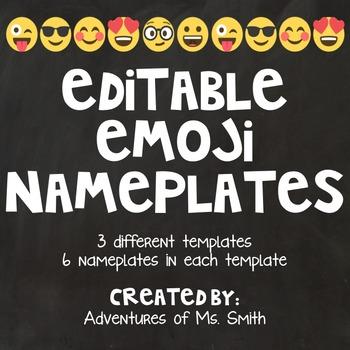 Emoji Themed Editable NamePlates