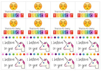 Emoji Themed Encouragement / Motivation Cards!