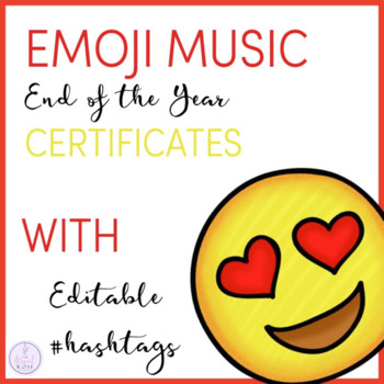 Emoji Themed End of Year Music Awards with Editable Hashtags