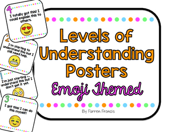 Emoji Themed Level of Understanding Posters