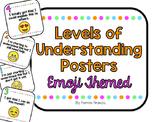Emoji Themed Level of Understanding Posters