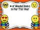Emoji Themed Library Stats Mini Bulletin Board Set