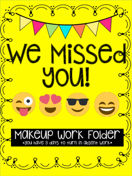 Emoji Themed Makeup Work Folder
