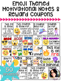 Back to School 50 Emoji Themed Motivational Positive Notes & Reward Coupons