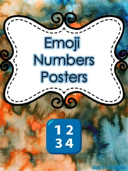 Emoji Themed Numbers Posters