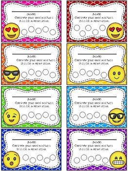 Emoji Themed Punch Card Pack