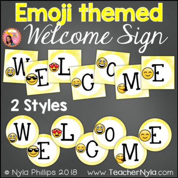 Emoji Themed Welcome Sign Letters