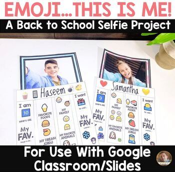 Emoji, This is Me- Back to School Selfie Project for Google Classroom and Slides