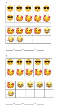 Emoji Three Addend Addition