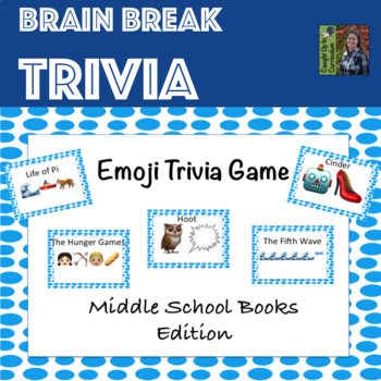 Emoji Trivia Middle School Books Edition