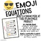 Emoji Two-Step Equations Task Cards