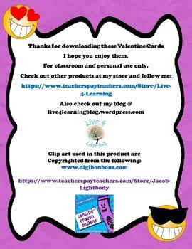Emoji Valentine Cards To Students From Teacher