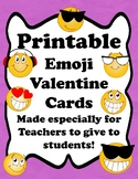 Emoji Valentine Cards To Students From Teacher