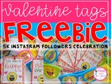Emoji Valentine Tags FREEBIE (5K Instagram Follower Celebration)
