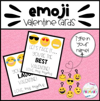 Emoji Valentine's Day Cards - editable