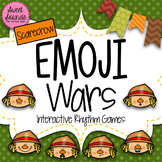 BUNDLE: Emoji Wars Scarecrows {Interactive Rhythm Games}