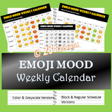 Emoji Weekly Mood Calendar