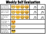 Emoji Weekly Self Evaluation