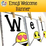 Emoji Welcome Banner Classroom Decor