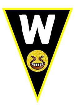 Emoji Welcome Bunting