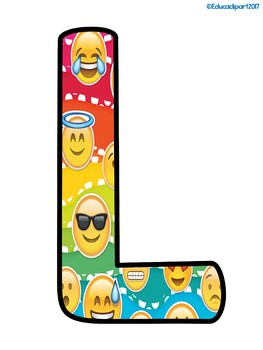 Emoji Welcome letters