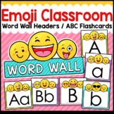 Emoji Classroom Decor Word Wall ABC Flashcards