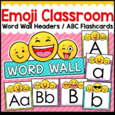 Emoji Classroom Decor Word Wall ABC Flashcards