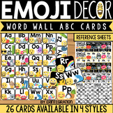 Emoji Word Wall Letters