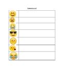 """Emoji Worksheet to reinforce """"Comment ça va?"""""""
