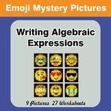 Emoji: Writing Algebraic Expressions - Math Mystery Pictur