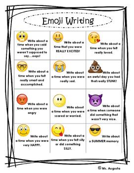 Emoji Writing Grid