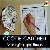 Emoji Writing Prompt Cootie Catcher for Writer's Workshop/Writing Centers!