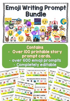 Emoji Story Writing Prompts Bundle
