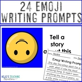 Emoji Writing Prompts - 3 NO PREP options + an EDITABLE PowerPoint file