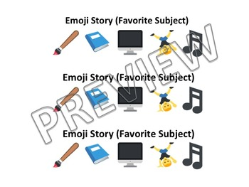 Emoji Writing Prompts/ Story Starters/ Writing Journal