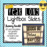 Emoji Year Long Lightbox Slides *Growing Bundle*