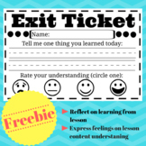 Emoji and Reflective Learning Exit Slip