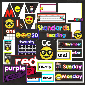 Emojis and Selfies EDITABLE Classroom Theme