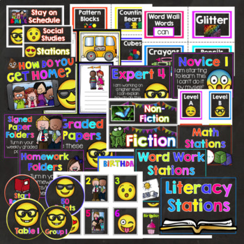 Emojis and Selfies Classroom Decor Editable