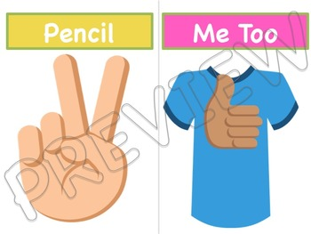 Emoji and Sign Language Classroom Management Signs