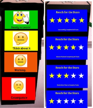 Emoji and Star Student Behavior/Tasks Charts