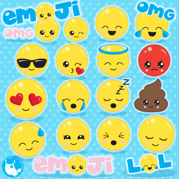 Emoji clipart commercial use, vector graphics  - CL1062