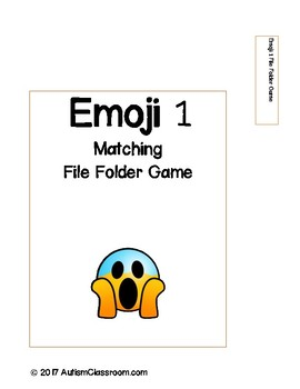 Emoji's Matching File Folder Game