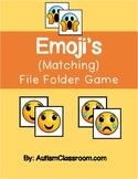 Emoji's Matching File Folder Game